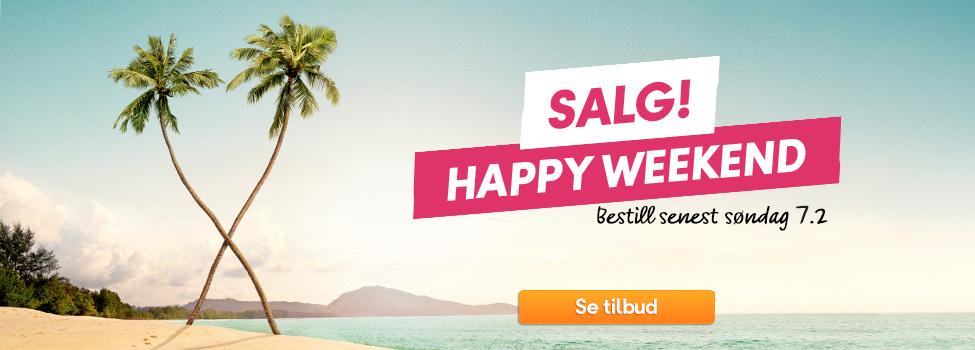 Happy Weekend – store rabatter på reiser i april, mai og juni »