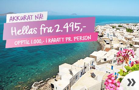 Hellas fra 2.495,- »