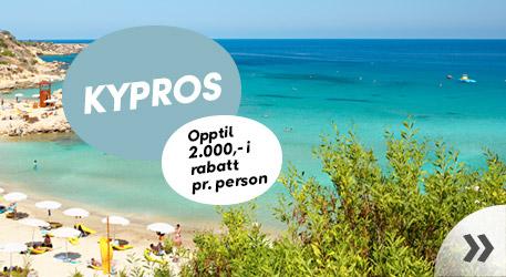 Kypros – opptil 2.000,- i rabatt pr. person