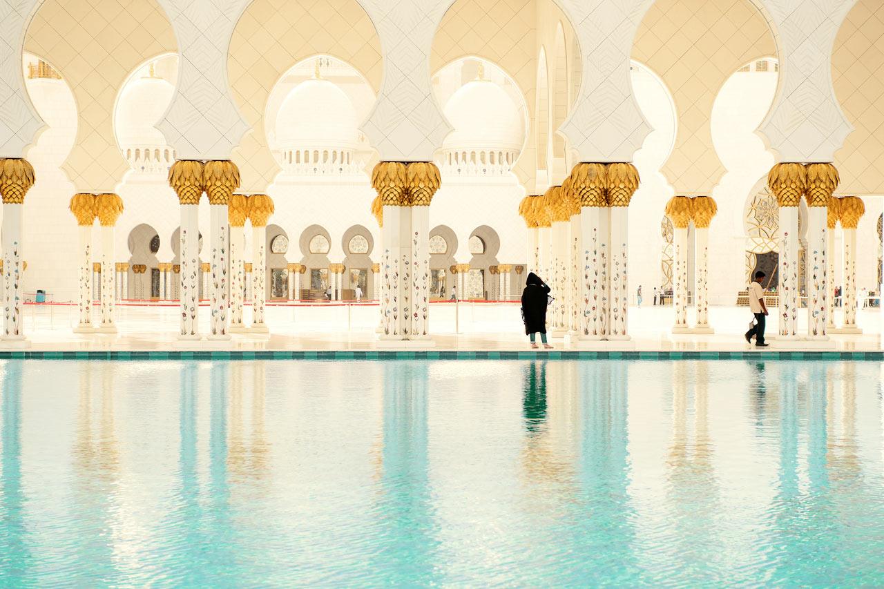 De forente arabiske emirater - Sheikh Zayed-moskén, Abu Dhabi