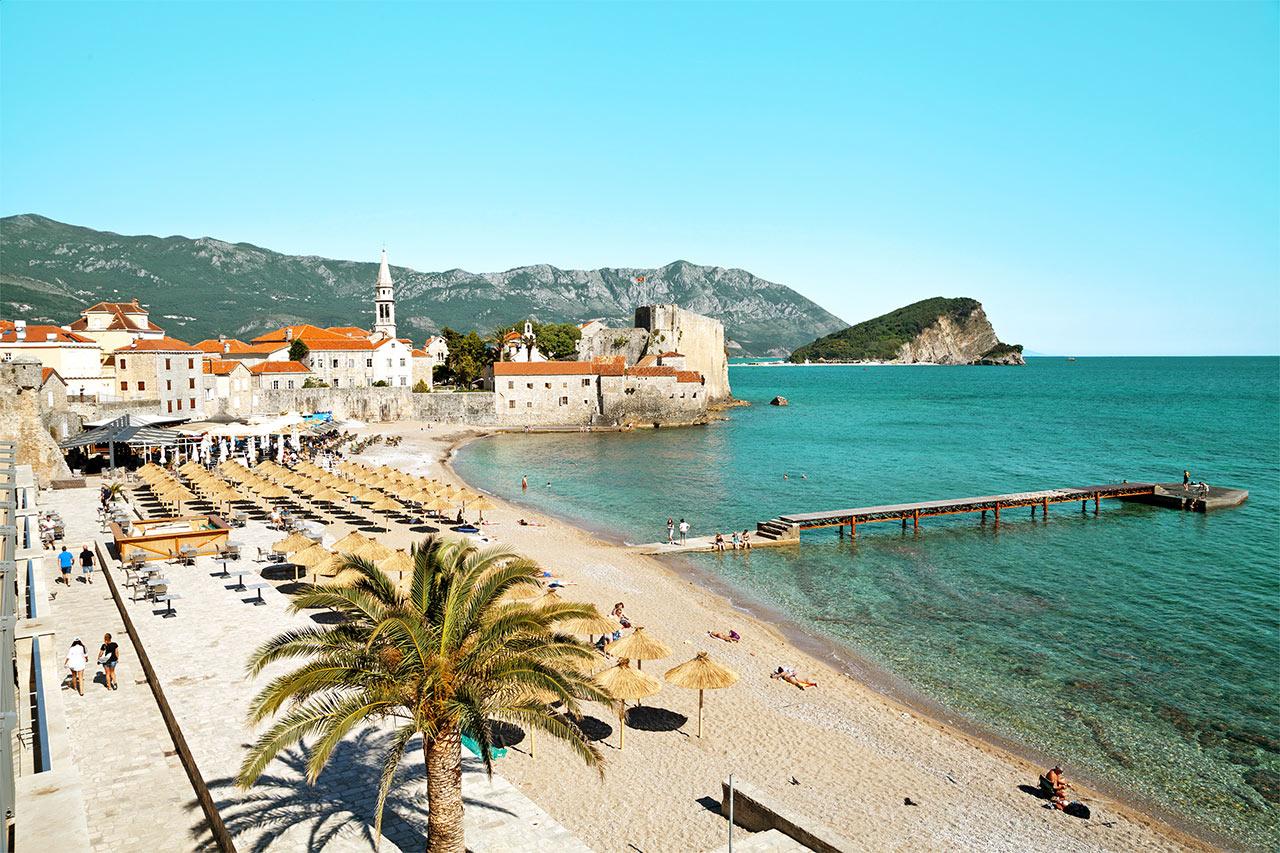 Montenegro - Gamlebyen i Budva