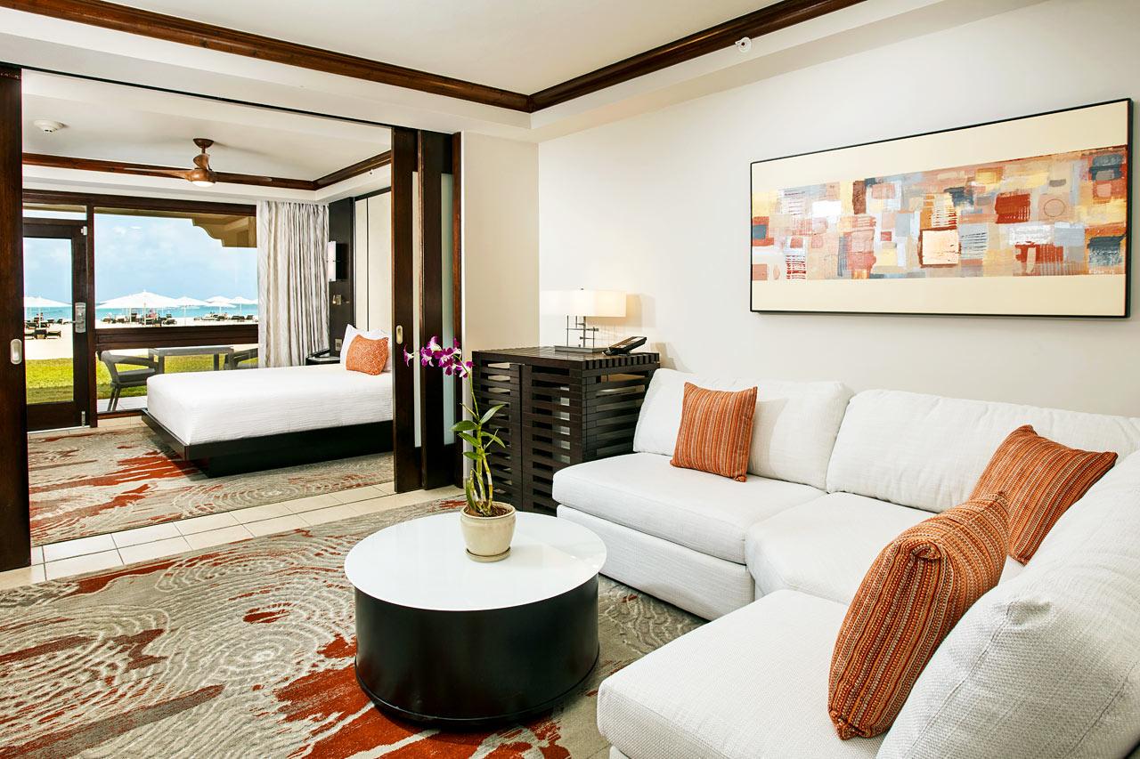 Dobbeltrom suite med havutsikt