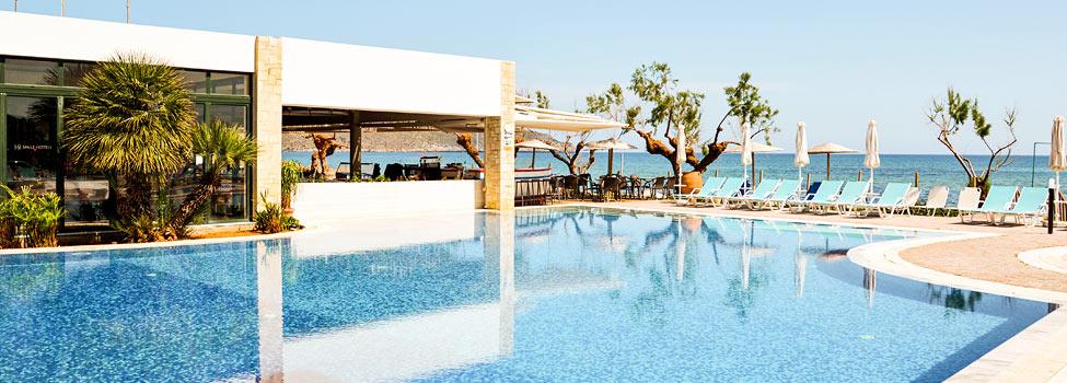 Iolida Beach, Chaniakysten, Agia Marina, Kreta, Hellas