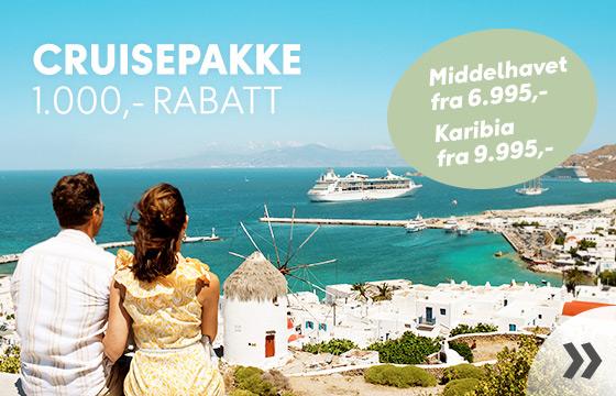Cruise i Middelhavet fra 7.695,-