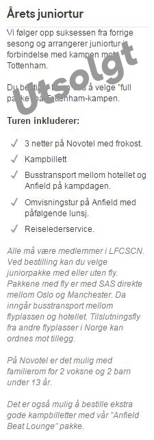 Årets juniortur til Liverpool