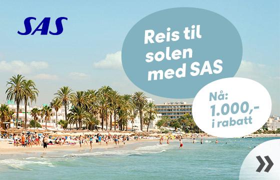 Reis til solen med SAS