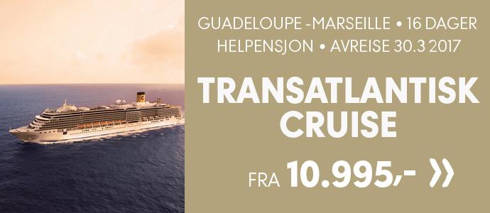 Transatlantisk cruise, Guadeloupe-Marseille