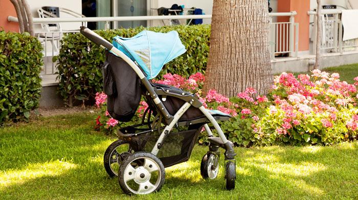 Sulky, barnsäng eller babysitter